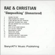 Click here for more info about 'Rae&Christian - Sleepwalking - Unmastered'