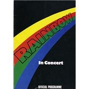 Rainbow In Concert UK tour programme
