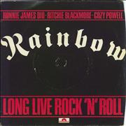 "Rainbow Long Live Rock N Roll + Sleeve - EX UK 7"" vinyl"