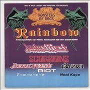 Click here for more info about 'Rainbow - Monsters Of Rock + Merch Insert'