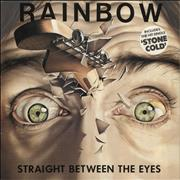 Click here for more info about 'Rainbow - Straight Between The Eyes - stickered p/s'