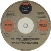 Click here for more info about 'Randy Vanwarmer - Just When I Needed You Most'