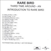 Click here for more info about 'Rare Bird - Third Time Around - An Introduction To Rare Bird'