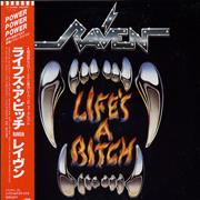 Raven Life's A Bitch Japan vinyl LP Promo