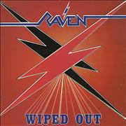 Raven Wiped Out + merch insert UK vinyl LP