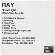 Click here for more info about 'Ray - First Light'