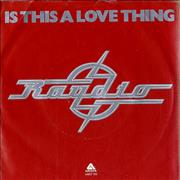 Click here for more info about 'Raydio - Is This A Love Thing - Red Vinyl - wide-centred'