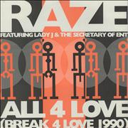 Click here for more info about 'All 4 Love (Break For Love 1990)'