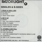Click here for more info about 'Razorlight - Album + Singles Promotional CD-Rs'