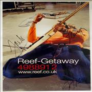 Click here for more info about 'Reef - Getaway - autographed poster'