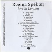 Click here for more info about 'Regina Spektor - Live In London'