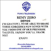 Click here for more info about 'Remy Zero - Demos'