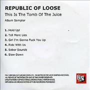 Click here for more info about 'Republic Of Loose - This Is The Tomb Of The Juice - Album Sampler'