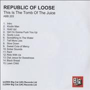 Click here for more info about 'Republic Of Loose - This Is The Tomb Of The Juice'