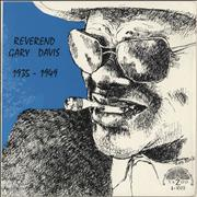 Click here for more info about 'Rev. Gary Davis - Reverend Gary Davis 1935 - 1949'