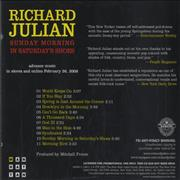 Click here for more info about 'Richard Julian - Sunday Morning In Saturday's Shoes'