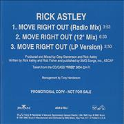 Click here for more info about 'Rick Astley - Move Right Out'