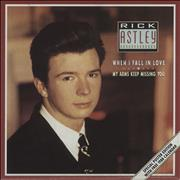 Click here for more info about 'Rick Astley - When I Fall In Love - Poster Sleeve'