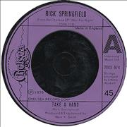 Click here for more info about 'Rick Springfield - Take A Hand'