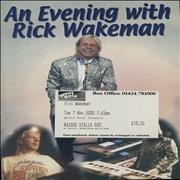 Click here for more info about 'An Evening With Rick Wakeman + Flyer & Ticket Stub'