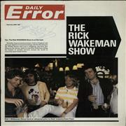 Click here for more info about 'Rick Wakeman - Daily Error - Autographed'