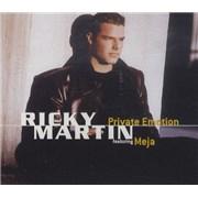 Ricky Martin Private Emotion Austria CD single Promo
