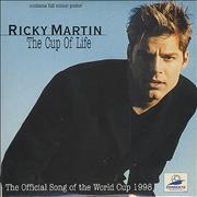 Ricky Martin The Cup Of Life + Poster UK CD single