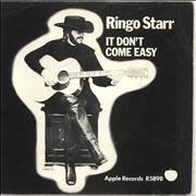 Click here for more info about 'Ringo Starr - It Don't Come Easy - 1st - Solid - p/s - EX'