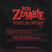 Click here for more info about 'Rob Zombie - Feel So Numb'