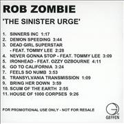 Click here for more info about 'Rob Zombie - The Sinister Urge'