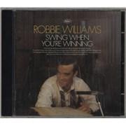 Robbie Williams Swing When You're Winning UK CD album