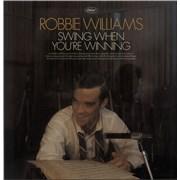 Robbie Williams Swing When You're Winning UK vinyl LP