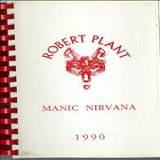 Click here for more info about 'Robert Plant - Manic Nirvana - North America 1990'
