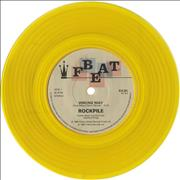 "Rockpile Wrong Way - Yellow Vinyl UK 7"" vinyl"