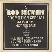 "Rod Stewart A Rod Stewart Promotion Special USA 7"" vinyl Promo"