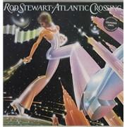 Rod Stewart Atlantic Crossing - Blue Vinyl UK vinyl LP