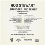 Rod Stewart Unplugged...And Seated USA CD album Promo