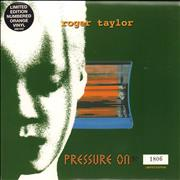 Click here for more info about 'Roger Taylor - Pressure On - Orange Vinyl + Numbered Sleeve'