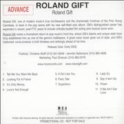 Click here for more info about 'Roland Gift - Roland Gift'