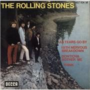"Rolling Stones 19th Nervous Breakdown EP - 3-66 France 7"" vinyl"