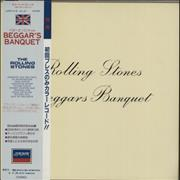 Click here for more info about 'Rolling Stones - Beggars Banquet - Blue Vinyl - EX Sleeve'