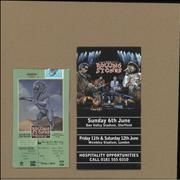 Click here for more info about 'Bridges To Babylon Tour Ticket Stubs and Hospitality Flyer'
