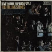Rolling Stones Have You Seen Your Mother - Live! - 1st - EX UK vinyl LP