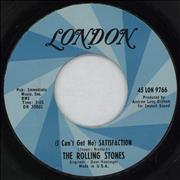 """Rolling Stones (I Can't Get No) Satisfaction - Blue Swirl USA 7"""" vinyl"""