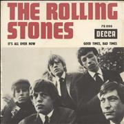 """Rolling Stones It's All Over Now France 7"""" vinyl"""