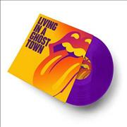 Click here for more info about 'Rolling Stones - Living In A Ghost Town - Purple Vinyl'