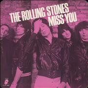 Click here for more info about 'Rolling Stones - Miss You - Pink Vinyl - VG'