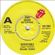 Click here for more info about 'Rolling Stones - Respectable - Demo - P/S'