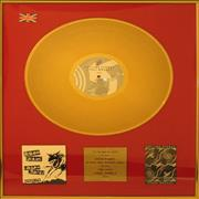 Click here for more info about 'Rolling Stones - Steel Wheels - Gold Vinyl Award'