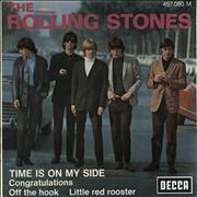 """Rolling Stones Time Is On My Side - 1-65 France 7"""" vinyl"""